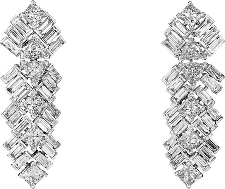 Cartier「Reflection de Cartier」系列頂級珠寶鑽石耳環╱3,130,000元。(圖╱Cartier提供)