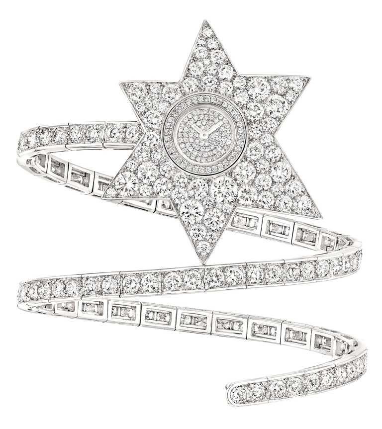 CHANEL「ÉTOILE FILANTE」珠寶腕錶╱品牌典藏品,無零售價。(圖╱CHANEL提供)