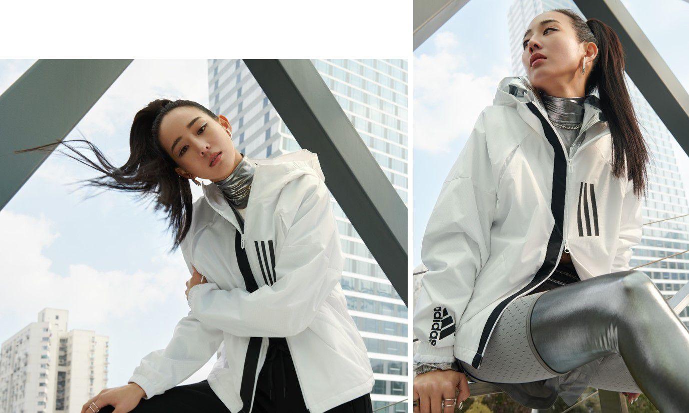 知性女神張鈞甯、陳芳語怎麼搭配梗都用不完,就靠這件adidas 全新W.N.D.風衣夾克!