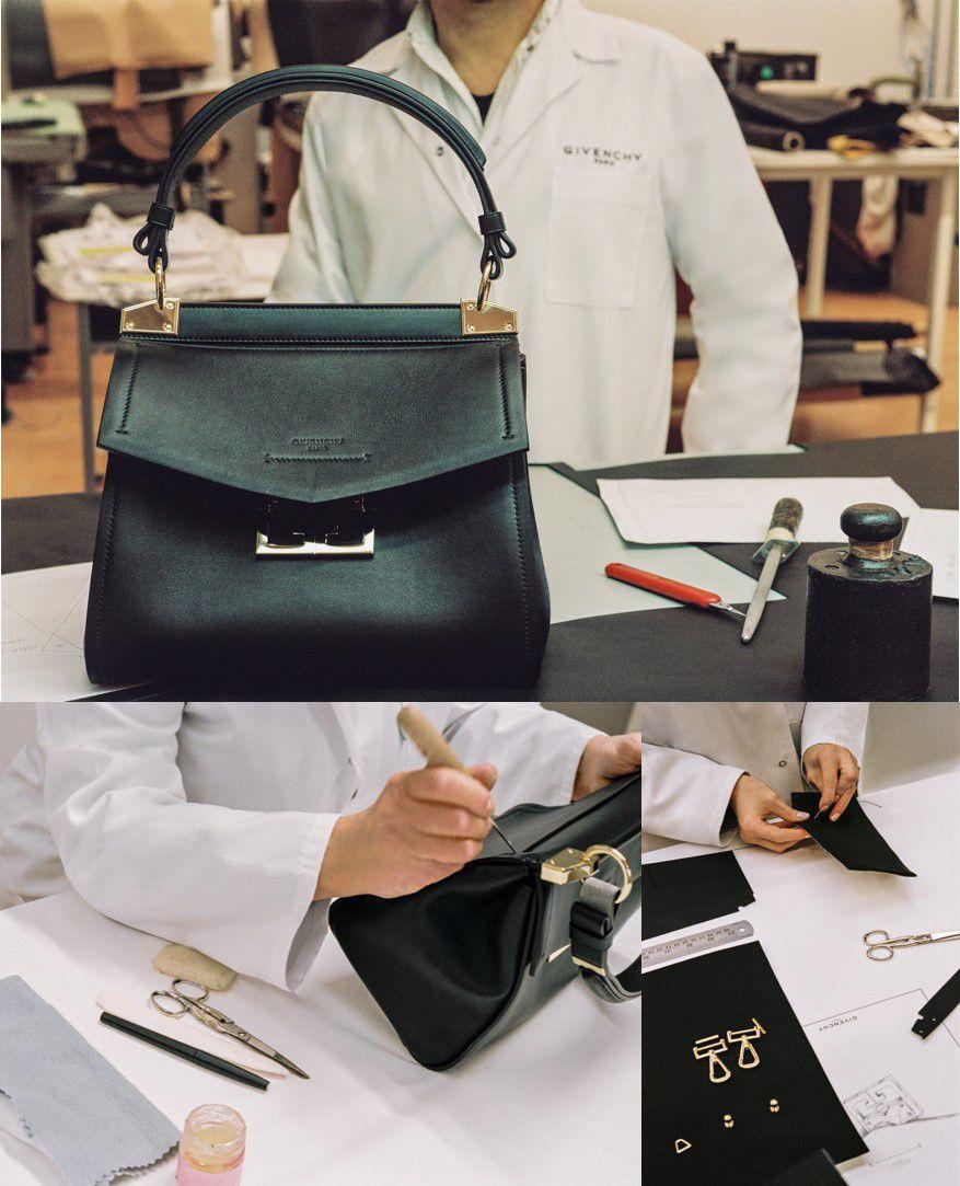 Givenchy早秋新手袋Mystic系列,絲金色雙G logo玩神秘,遮一半卻超吸睛!