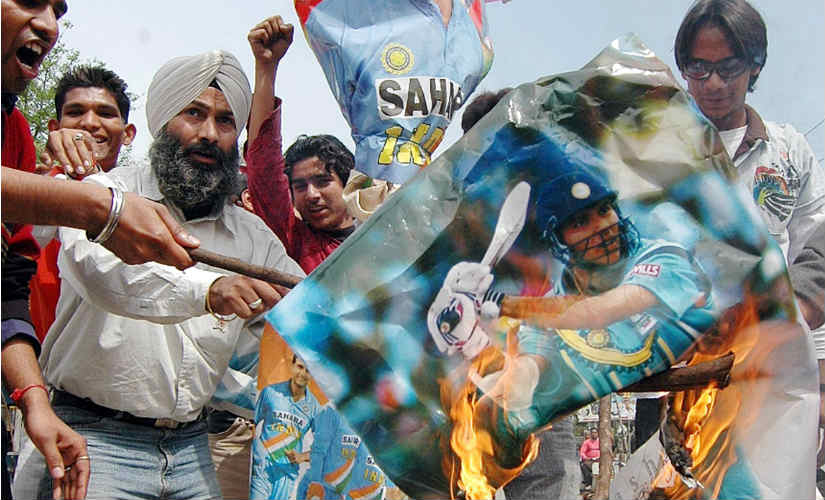 Indian fans undergo the familiar emotional roller coaster after team's exit at the 2007 World Cup. AFP/ File