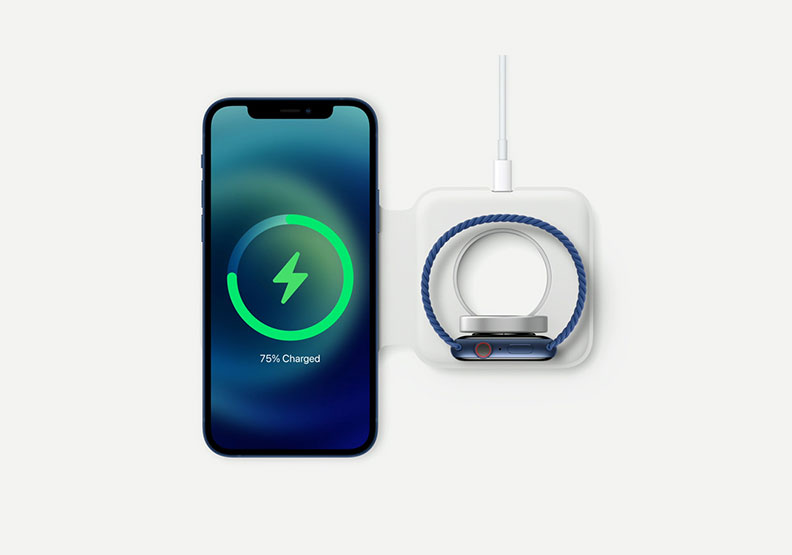 iPhone 12新增MagSafe磁吸配件。Apple提供