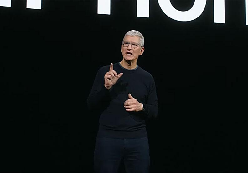 蘋果CEO庫克(Tim Cook)。擷取自2020蘋果秋季發布會