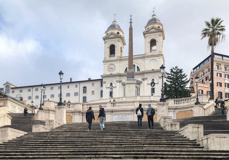 羅馬知名景點西班牙階梯