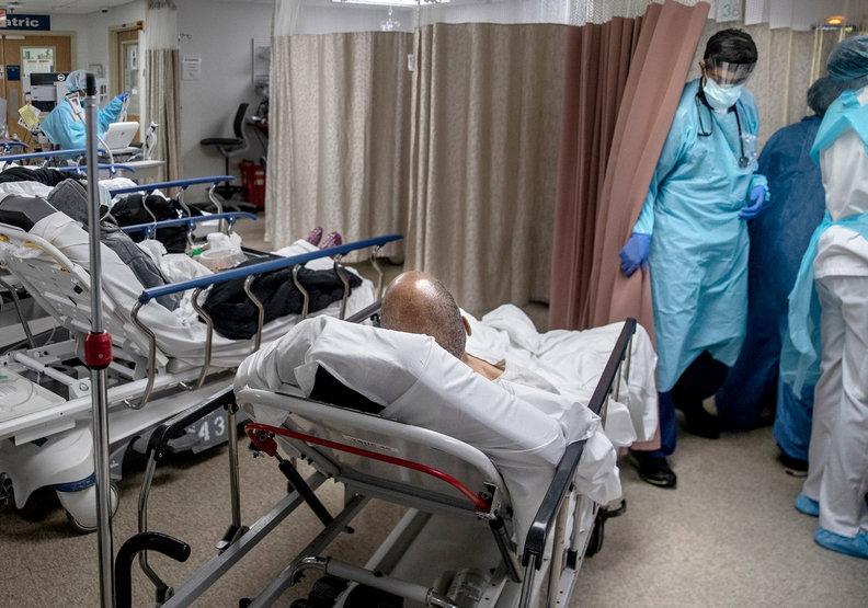 紐約的醫療體系一度陷入危急