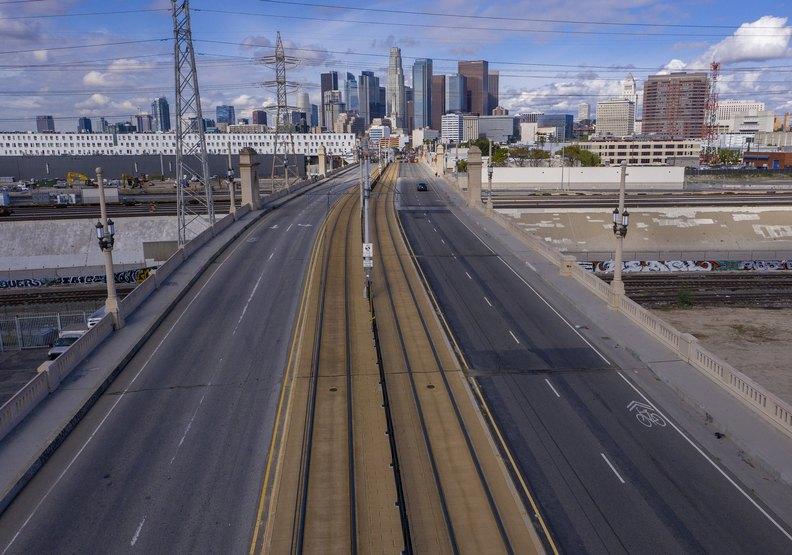 永遠塞車的洛杉磯難得的安靜時刻
