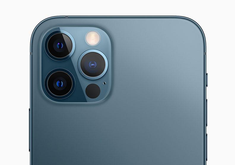 iPhone 12 Pro和iPhone 12 Pro Max皆為三攝鏡頭。Apple提供