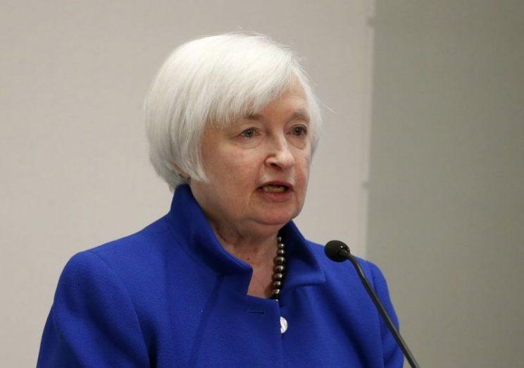 U.S. Federal Reserve Chair Janet Yellen speaks at