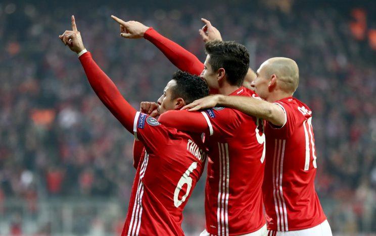 Deadly trio: Robben, Lewandowski, Thiago