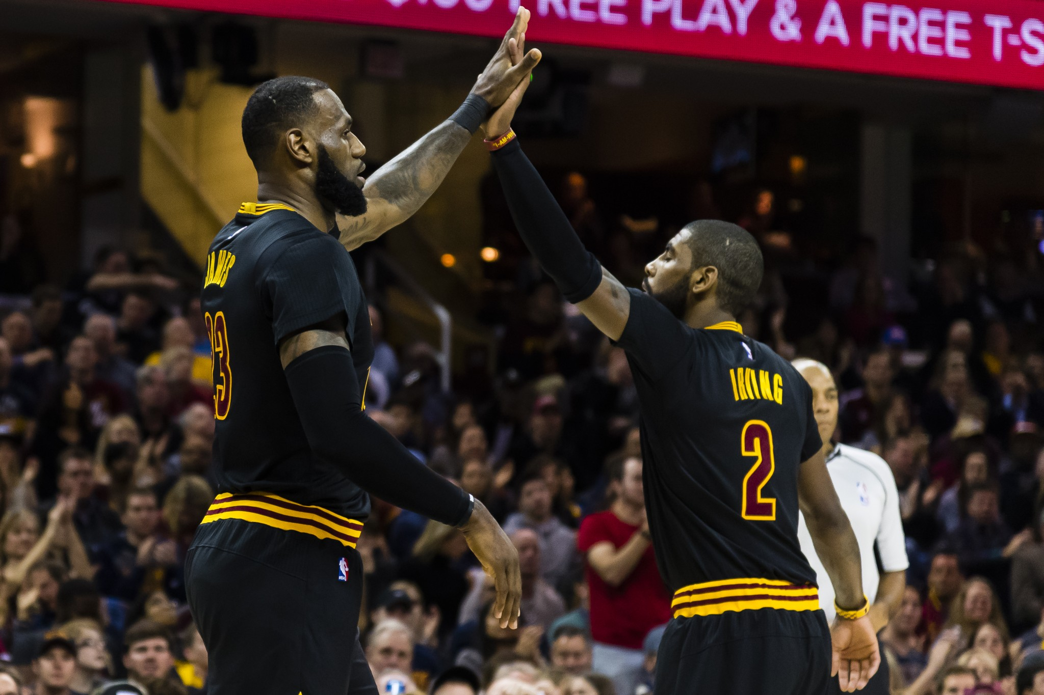 LeBron James and Kyrie Irving will have to shoulder an even bigger burden in Kevin Love's absence. (Getty Images)