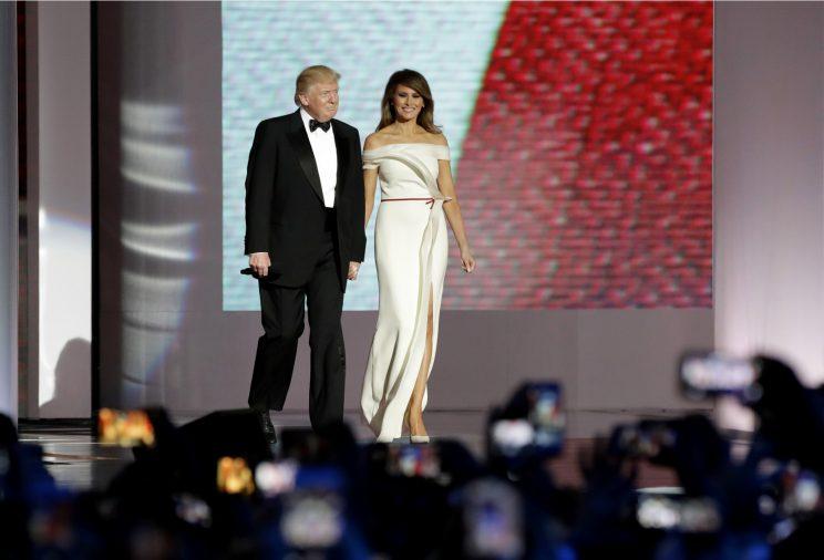 Melania Trump Helped Hervé Pierre Design Her Inaugural Ball Gown