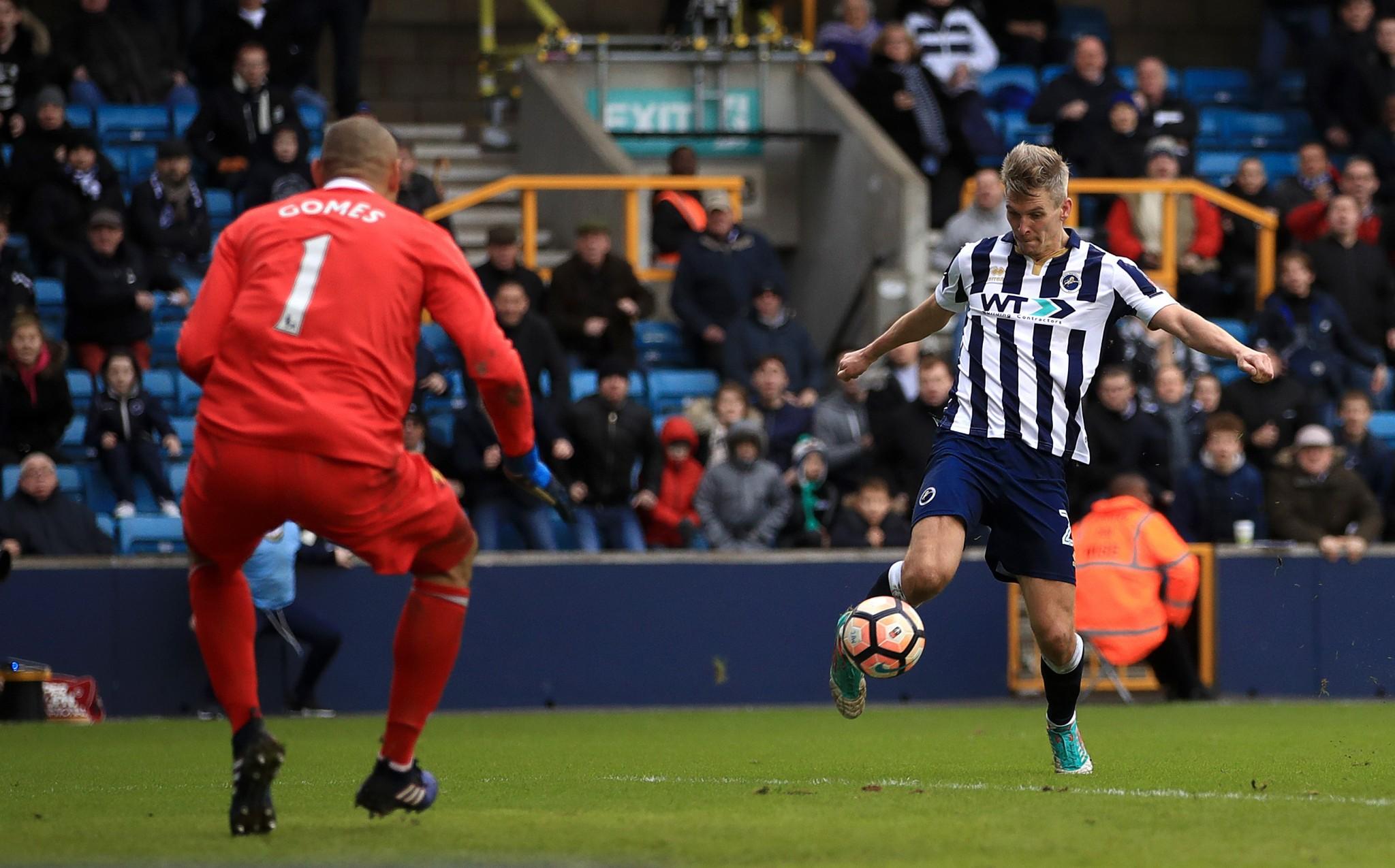 Steve Morison scores Millwall's winner against Watford in round 4