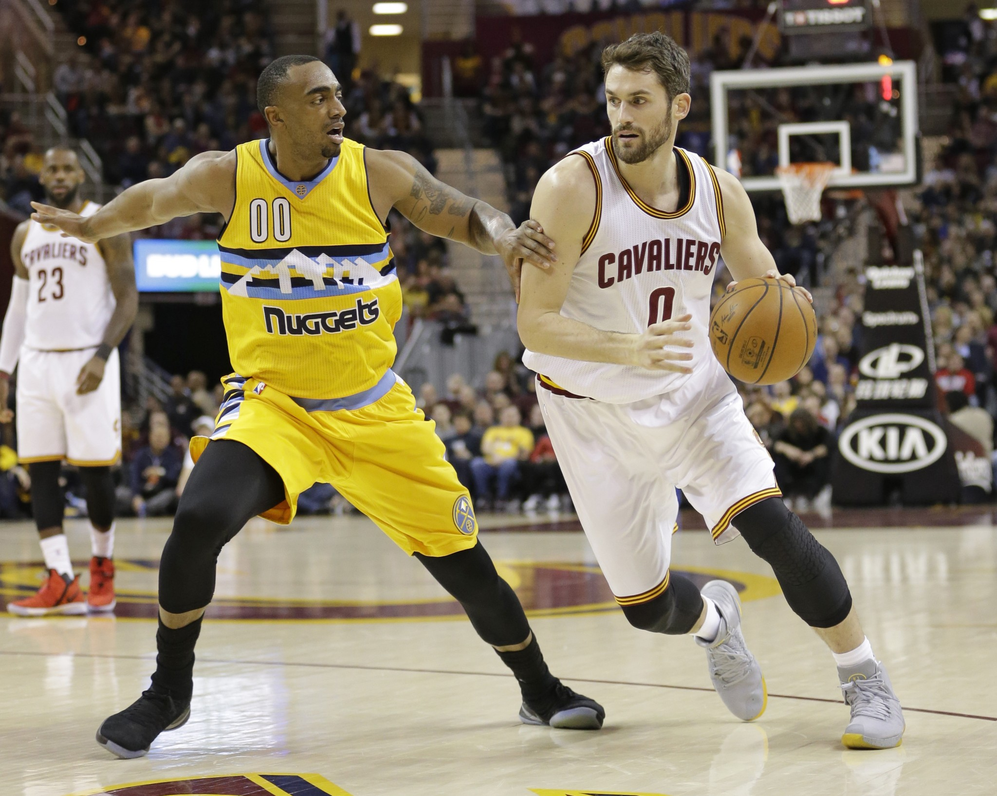 Kevin Love's first All-Star season in Cleveland just hit a major speed bump. (AP)