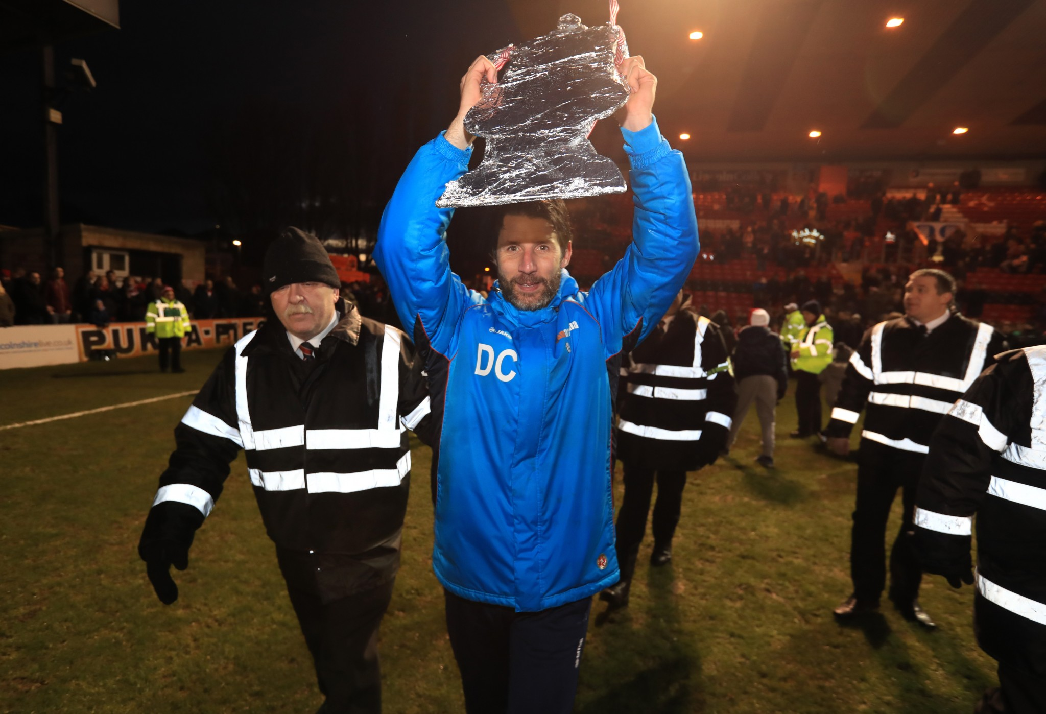 Lincoln manager Danny Cowley is up for the cup