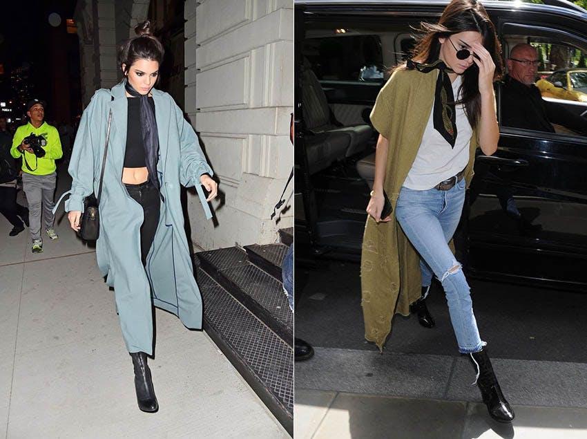 秋冬流行 絲巾 時裝周 金小妹 Kendall Jenner