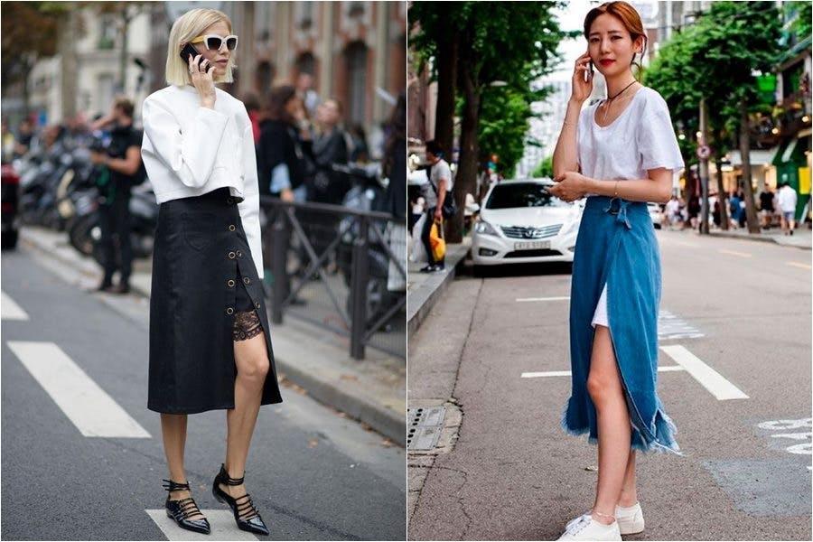 時尚 裙子 開衩裙 夏日穿搭 法國女人