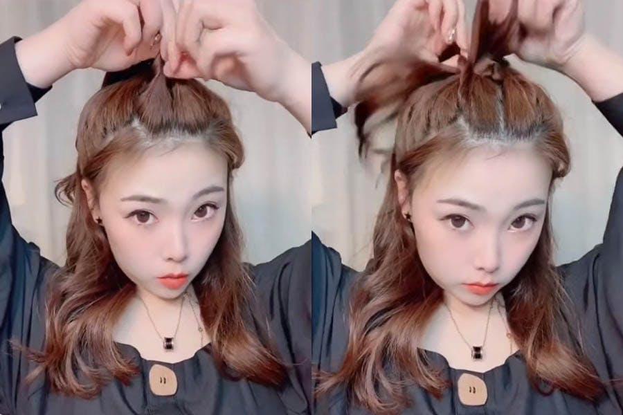 蝴蝶結綁髮 編髮 教學|美周報