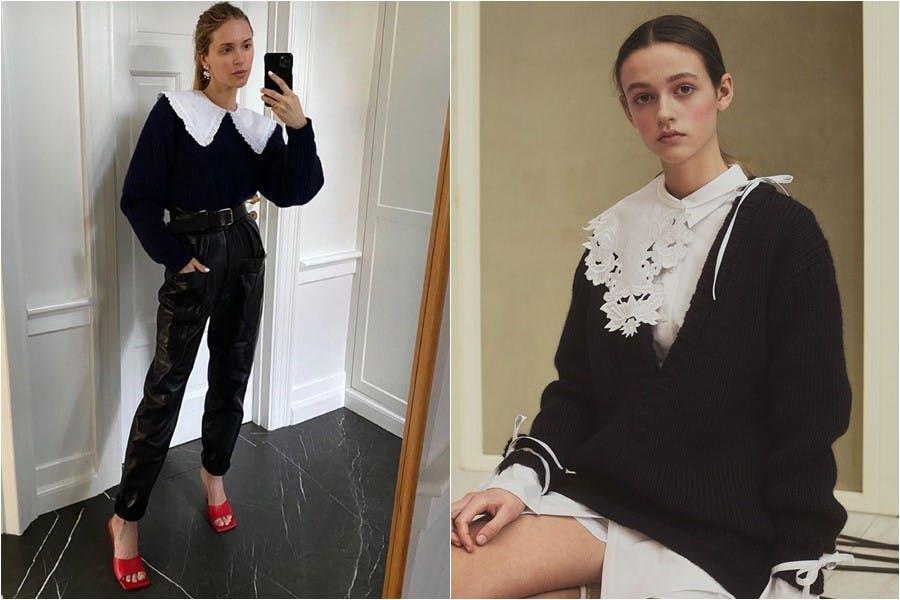 時尚 大衣領 大尖領 娃娃領 襯衫 襯衫搭配