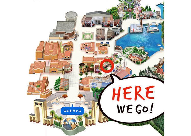 「瑪利歐咖啡&商店」就在好萊塢大道上! 圖片提供:日本環球影城(Universal Studios Japan)