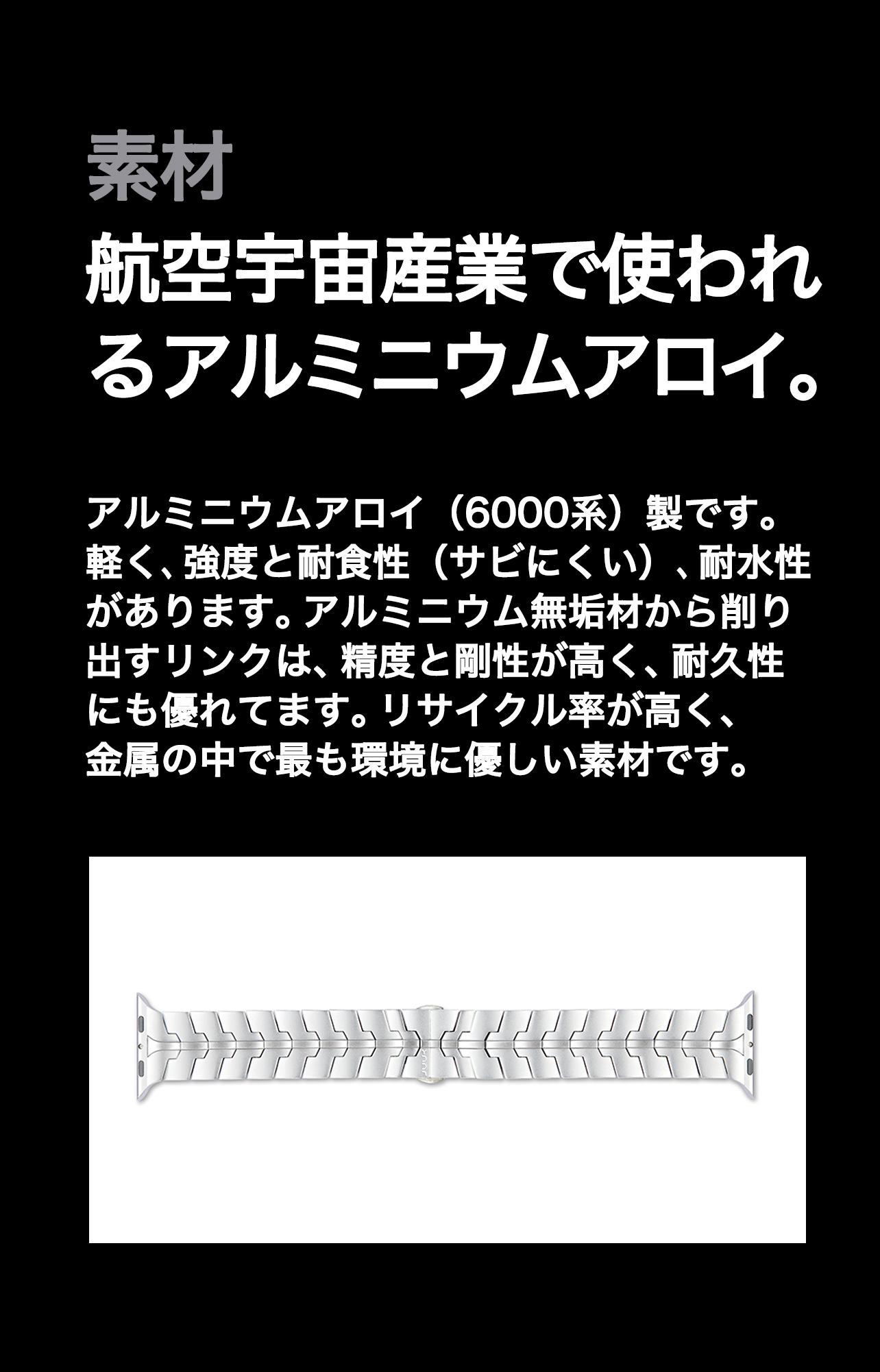 JUUK Vitero Aluminum Apple Watch Bracelet | Elise Japan