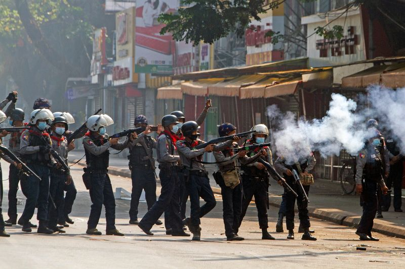 At least 18 dead on bloodiest day of Myanmar protests against coup
