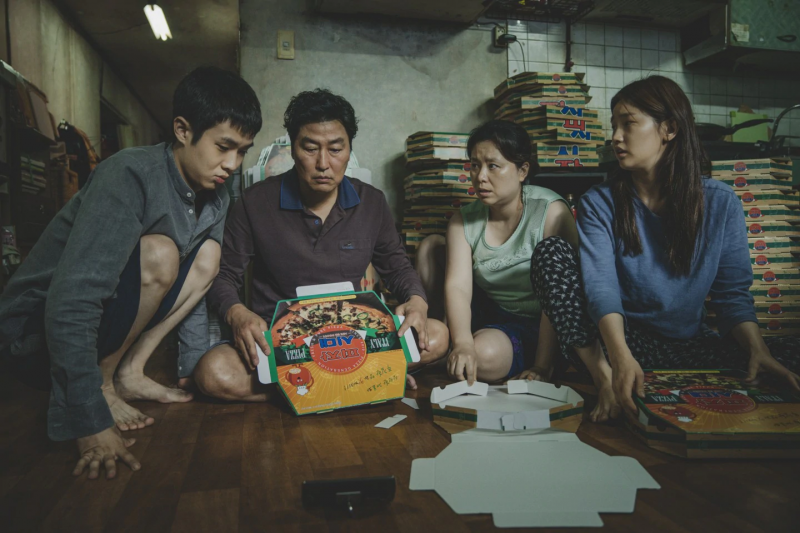 南韓《寄生上流》拿下2020年奧斯卡最佳影片獎(美聯社)