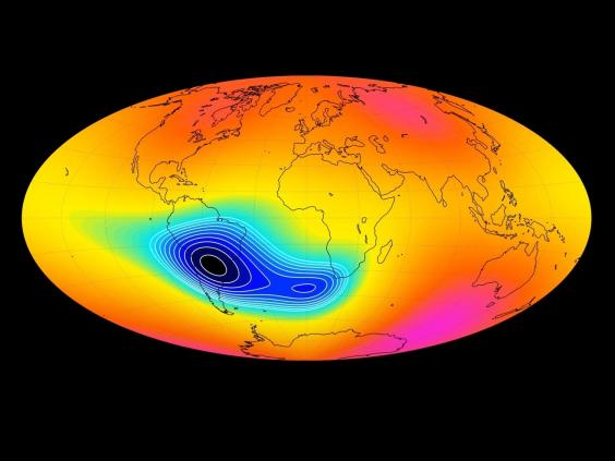 The South Atlantic Magnetic Anomaly