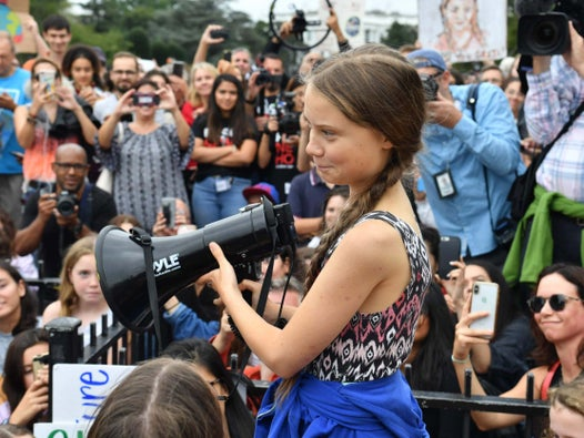Greta Thunberg marches in front of White House with American students over climate change crisis