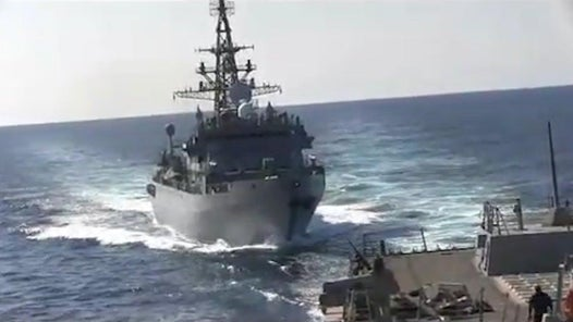 US destroyer fires warning blasts at Russian warship in Arabian Sea
