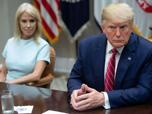 Kellyanne Conway says Trump is fond of former Epstein lawyer Alan Derschowitz amid rumours he may join impeachment team