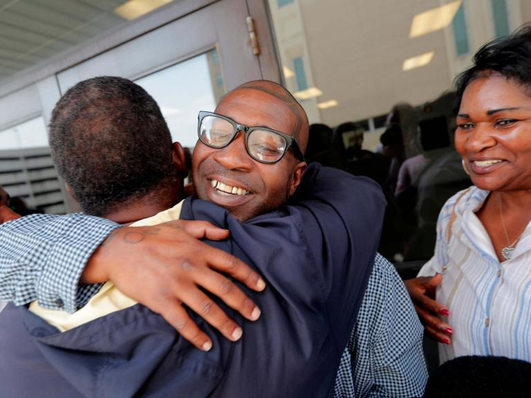 Man freed after 17 years in prison when newly examined fingerprints prove his innocence