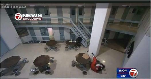 Parkland shooter Nikolas Cruz filmed attacking sheriff deputy inside jail