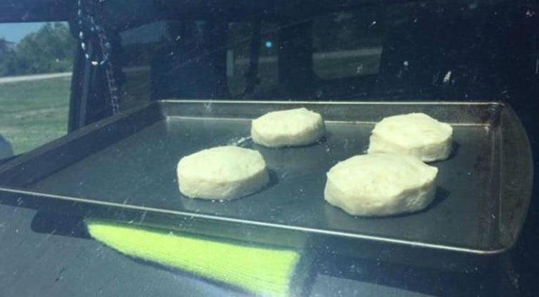 US heatwave: National Weather Service bakes biscuits inside hot car in safety warning about leaving children or pets