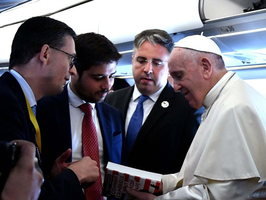 Pope Francis says it is 'an honour that the Americans attack me