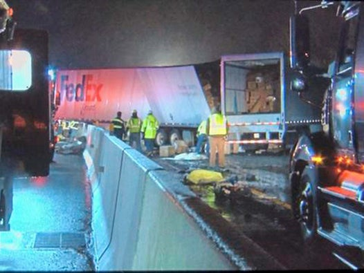 Pennsylvania turnpike crash leaves five dead and 60 injured outside Pittsburgh