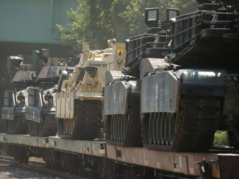 Tanks roll into Washington DC for Trumps 4 July parade, as $2.5m 'diverted from parks funding' to help pay for it