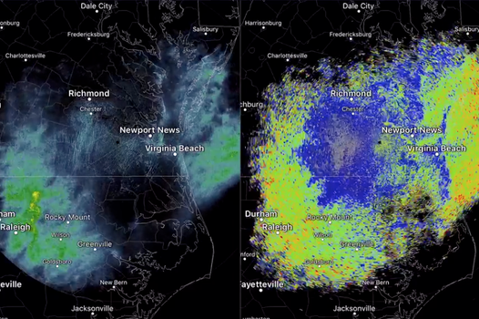 Weather radar picks up mysterious shadow across three states 'caused by huge dragonfly swarm'