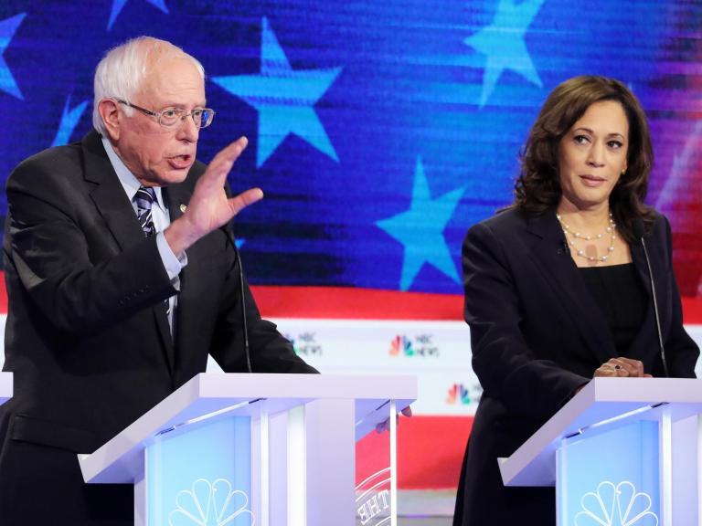 Fury from Democrats after Donald Trump Jr attacks Kamala Harris over her race