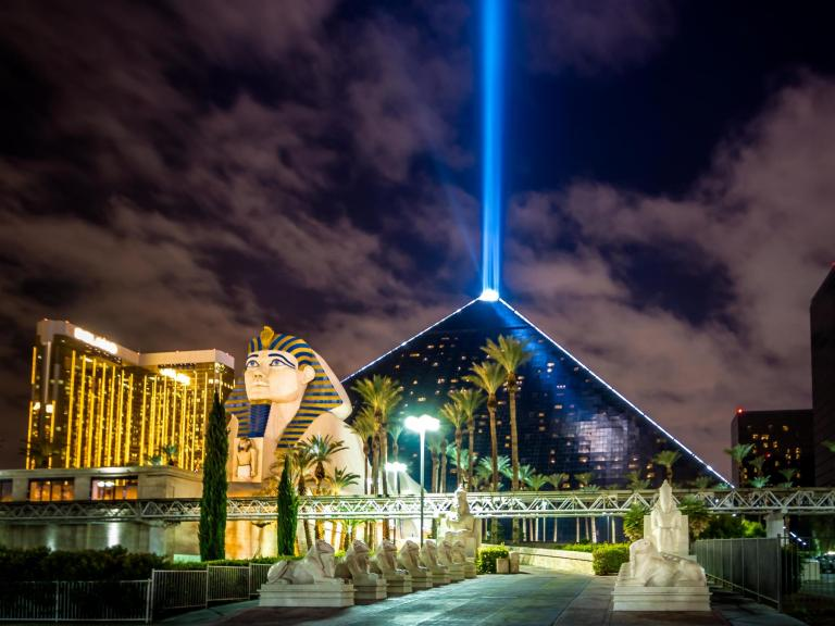 Huge light beam triggers invasion of grasshoppers in Las Vegas that could last weeks, experts say