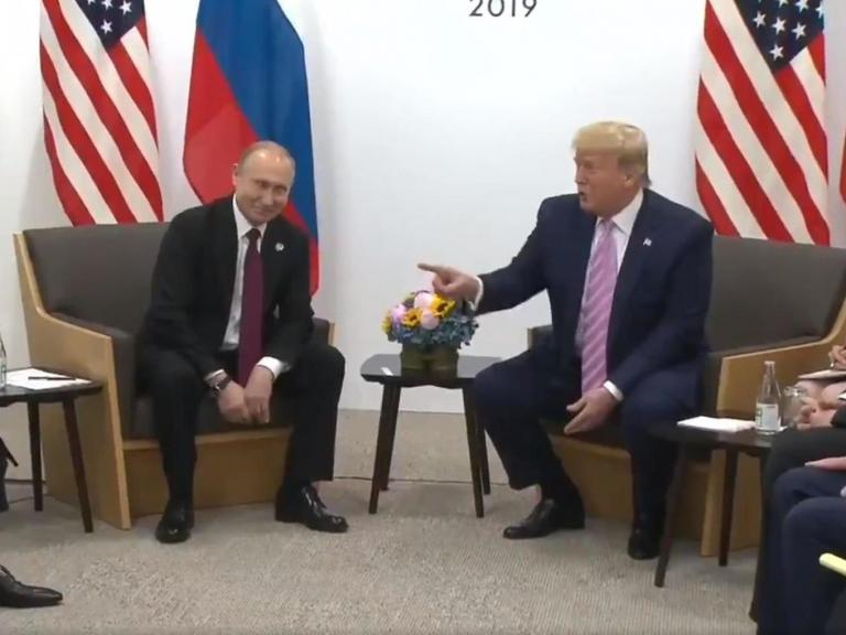 Trump jokingly warns Putin not to 'meddle' in 2020 election