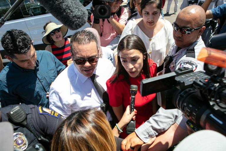 AOC denounces ICE as rogue agency after visit to unsafe child detention centre