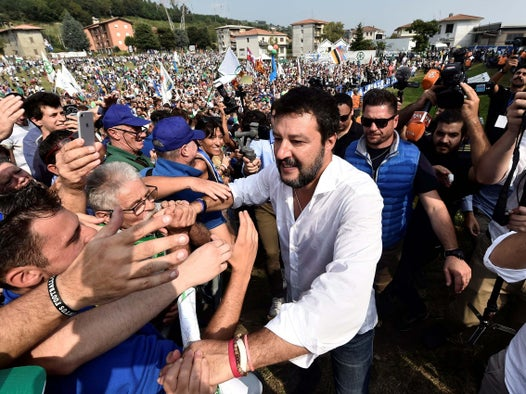 Italy's far-right party leader Salvini vows to return to power and issues warning to EU