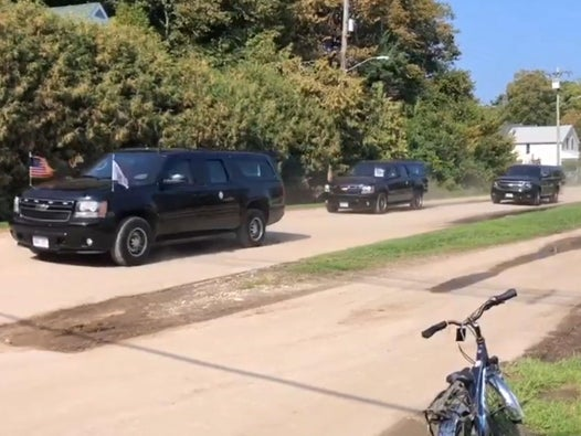 Mike Pence takes eight-vehicle motorcade across island where cars have been banned for a century