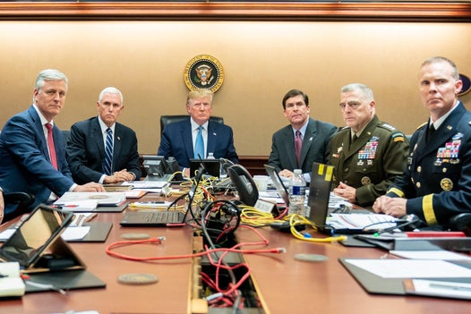 Anomalies in Trump situation room photo spark online conspiracy theories it was staged