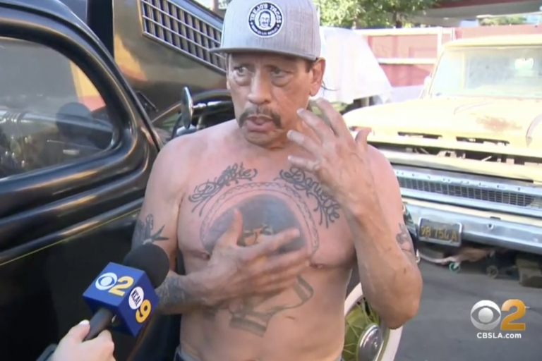 Danny Trejo rescues boy trapped in overturned car after crash
