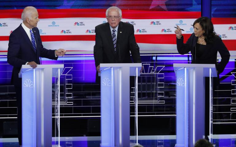 Democratic debate result: Kamala Harris comes off above the food fight as Biden and Sanders disappoint