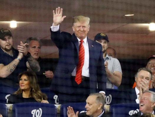 Trump news – live: President booed at World Series as Democrats demand to know why Congress was not briefed on al-Baghdadi raid
