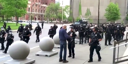 Buffalo mayor says elderly protester pushed to ground by police was an agitator