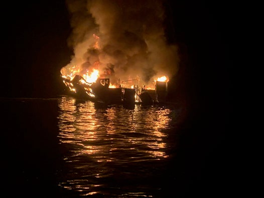 California boat fire: six crew members were asleep when fatal blaze erupted, report finds