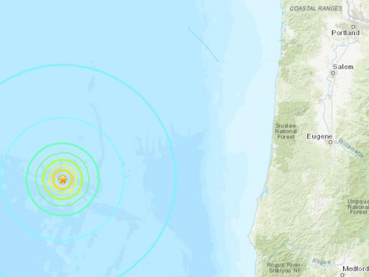 Oregon earthquake: 6.3 magnitude quake strikes by US coast